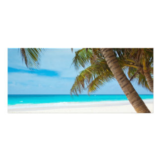 Tropical beach sand and ocean custom name bookmark rack card