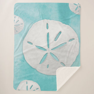 Tropical Beach Sand Dollar Turquoise Watercolor