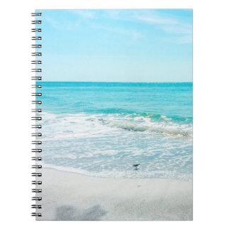Tropical Beach Sand Ocean Waves Sea Shells Gulf Notebooks