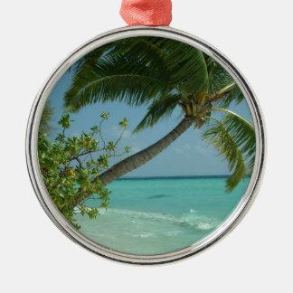 Tropical Beach Sand Sun Water Ocean Waves Surf Art Christmas Ornament