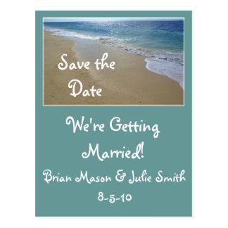 tropical-beach-, Save the Date, ... Postcard