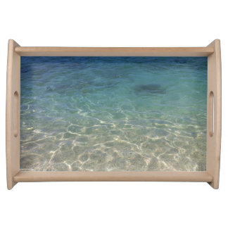 Tropical Beach Sea Water Serving Tray