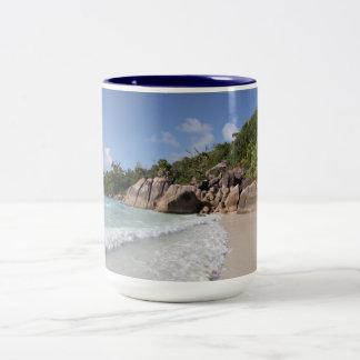 Tropical Beach, Seychelles, Indian Ocean Two-Tone Mug