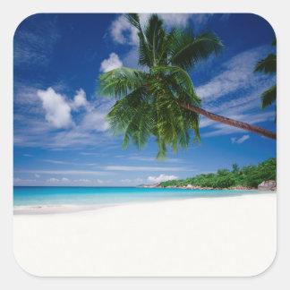 Tropical Beach | Seychelles Square Sticker