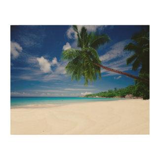 Tropical Beach | Seychelles Wood Print