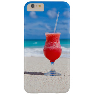 Tropical Beach Summer Red Strawberry Margarita Barely There iPhone 6 Plus Case