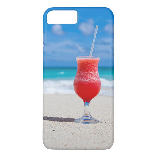 Tropical Beach Summer Red Strawberry Margarita iPhone 8 Plus/7 Plus Case