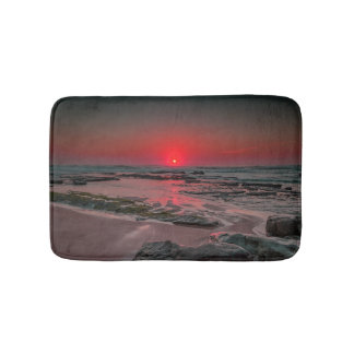 Tropical Beach Sunset Bath Mat