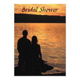 Tropical Beach Sunset Bridal Shower Card