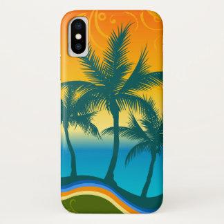 Tropical Beach Sunset iPhone X Phone Case