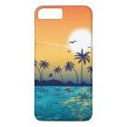 Tropical Beach Sunset Sunrise Palm Trees Ocean iPhone 8 Plus/7 Plus Case