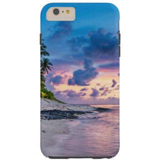 Tropical Beach Sunset Tough iPhone 6 Plus Case