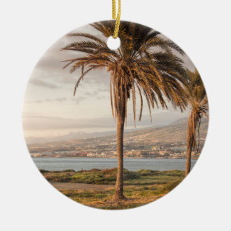 Tropical beach Tenerife Christmas Ornament