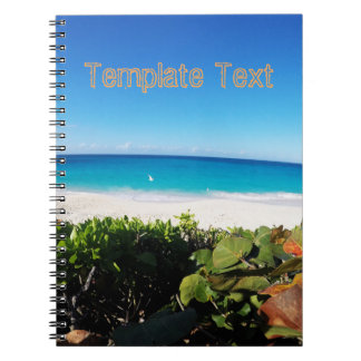 Tropical Beach | Text Template | Sunny Day Notebook