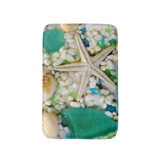 Tropical Beach Theme Bath Mat