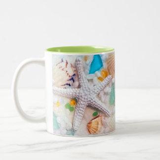 Tropical Beach Theme Two-Tone Coffee Mug