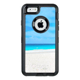 Tropical beach, turquoise water OtterBox defender iPhone case