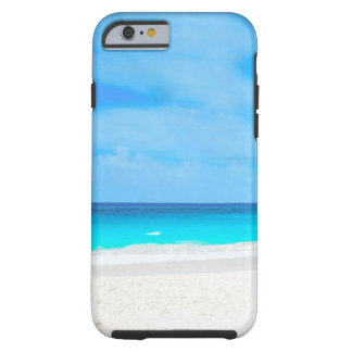 Tropical beach, turquoise water tough iPhone 6 case