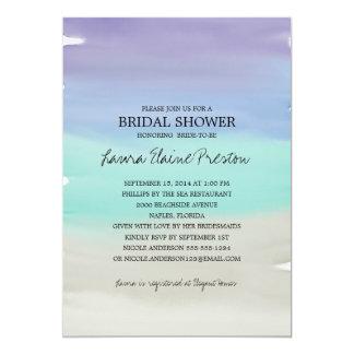 Tropical Beach Watercolor Bridal Shower 13 Cm X 18 Cm Invitation Card