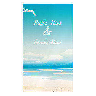Tropical Beach Website Wedding Card Business Cards