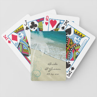 Tropical Beach Wedding Bicycle Playing Cards