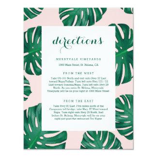 Tropical Beach Wedding Directions Card 11 Cm X 14 Cm Invitation Card