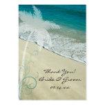 Tropical Beach Wedding Favour Tags Business Card Templates