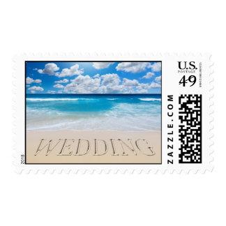 Tropical Beach Wedding Postage