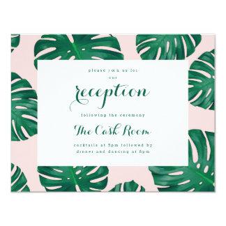 Tropical Beach Wedding Reception Card