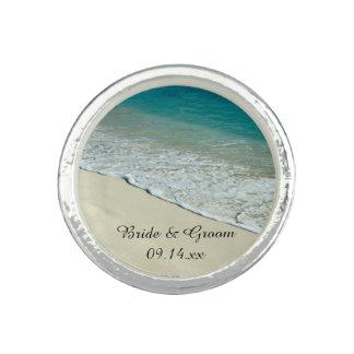 Tropical Beach Wedding Ring