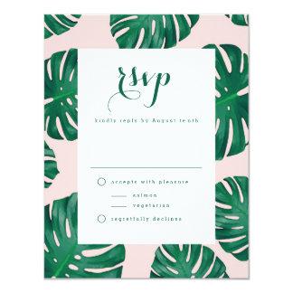 Tropical Beach Wedding RSVP Card