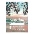 Tropical Beach Wedding RSVP | String of Lights Card