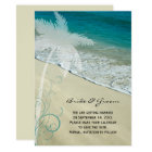 Tropical Beach Wedding Save the Date Announcement