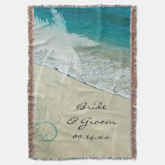 Tropical Beach Wedding Throw Blanket