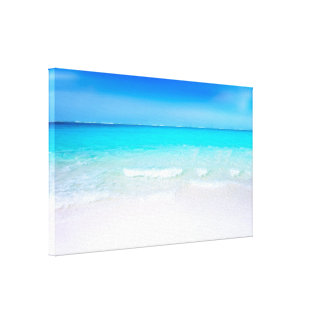 Tropical Beach with a Turquoise Sea Canvas Print