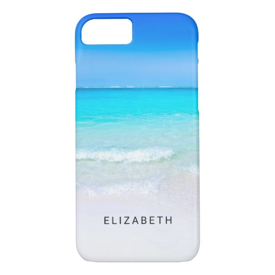 Tropical Beach with a Turquoise Sea Custom iPhone