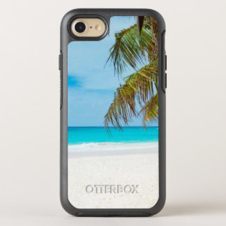 Tropical Beach with Palm Trees OtterBox Symmetry iPhone 7 Case