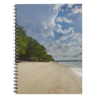 Tropical Beach With Sunrise Notebook