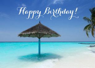 Beach Birthday Cards Zazzle Uk