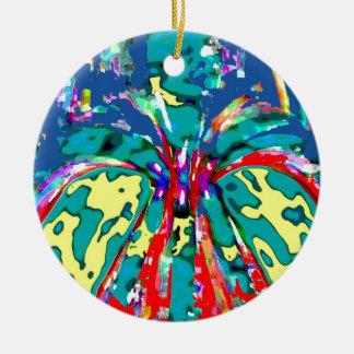 TROPICAL Beauty Landscape - Flowering Hearts FUN Christmas Tree Ornaments