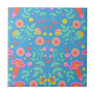 Tropical Bells Small Square Tile