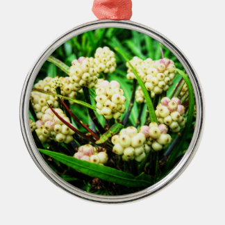 Tropical berries 1 Silver-Colored round decoration