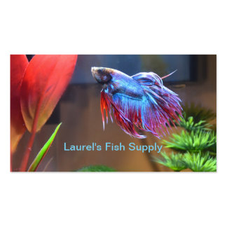 Tropical Beta Fish Supply Business Cards