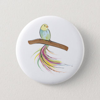 Tropical Bird 6 Cm Round Badge