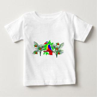 Tropical Bird and Flowers T-shirt