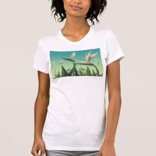 Tropical Bird of Paradise Ladies Fashion T Shirt
