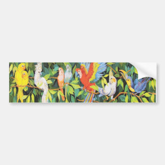 Tropical Birds Designs Bumper Sticker