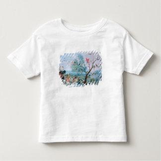 Tropical birds in a landscape toddler T-Shirt