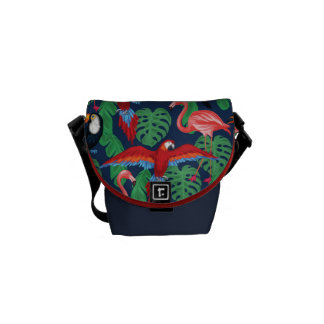 Tropical Birds In Bright Colors Commuter Bags