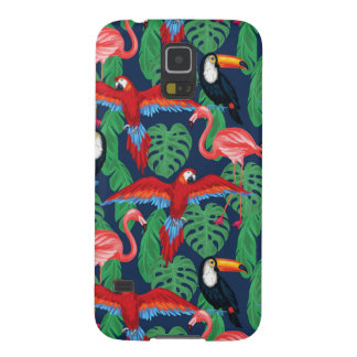 Tropical Birds In Bright Colors Galaxy S5 Covers